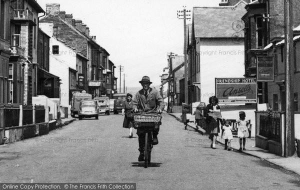 Borth, Delivery Bike, High Street c.1955