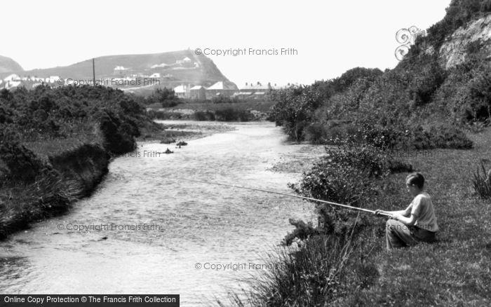 Borth, Fishing On The River Leray 1938