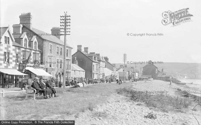 Photo of Borth, High Street From The Beach c.1933
