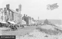 Borth, High Street From The Beach c.1933
