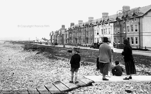 Borth, North Parade 1925