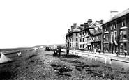 Borth, Parade And Beach 1899