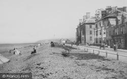 Borth, Parade And Beach 1899