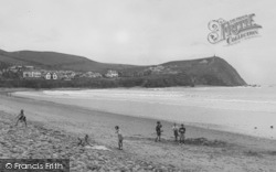 Borth, The Beach And Headland 1949