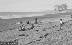 Borth, The Beach c.1950