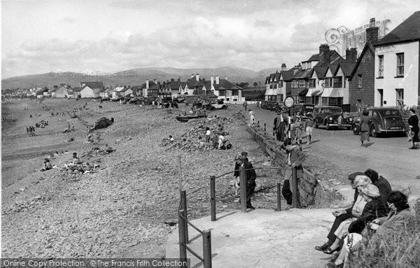 Borth, The Beach c.1955