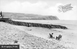The Beach c.1955, Borth