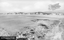 Borth, The Beach c.1955