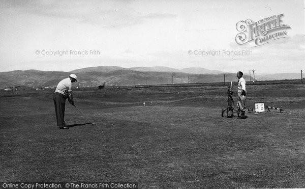 Photo of Borth, The Golf Course c.1955