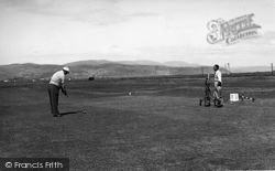 Borth, the Golf Course c1955