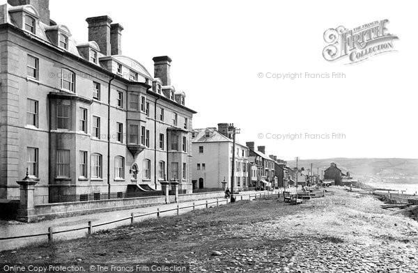 Borth, The Grand Hotel And Beach 1921