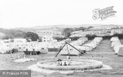 The Kiddies Playground, Brynowen Caravan Site c.1960, Borth