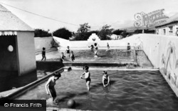 Borth, The Paddling Pool, Brynowen Caravan Site c.1960