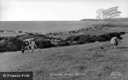 View From The Hills c.1960, Borth