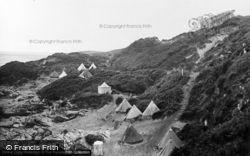Bathing Tents And Steps c.1930, Borth-Y-Gest