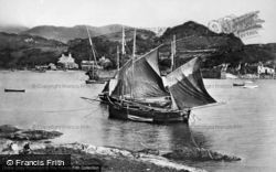 Fishing Boats c.1875, Borth-Y-Gest