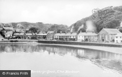 Borth-Y-Gest, The Harbour c.1950