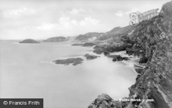 Borth-Y-Gest, The Rocks c.1939