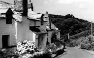Boscastle, 14th Century Cottage c.1960