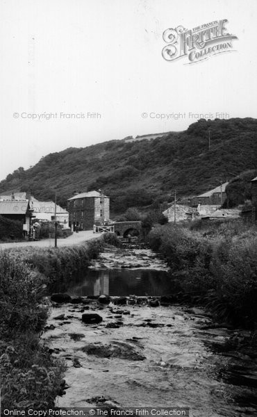 Boscastle, Bridge And Stream  c.1960