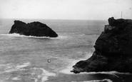 Boscastle, Profile Rock 1894