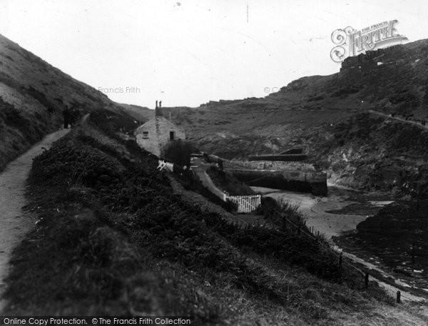 Boscastle, The Cliff Walk c.1955