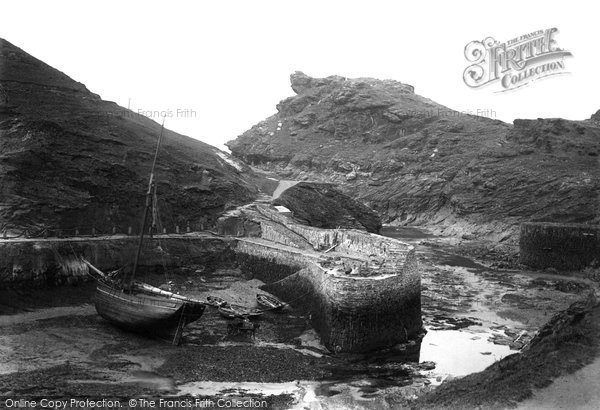 Boscastle, The Harbour And Profile Rock 1894