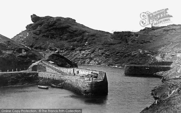 Boscastle, The Harbour And Profile Rock 1914
