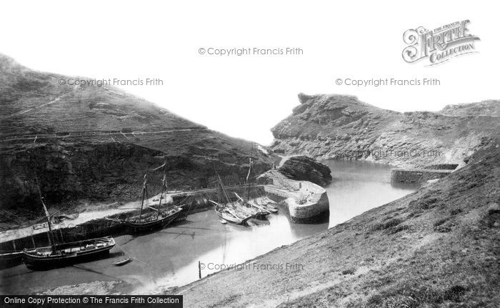 Boscastle, The Harbour And Profile Rock c.1871
