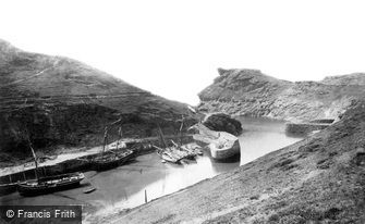 Boscastle, the Harbour and Profile Rock c1871