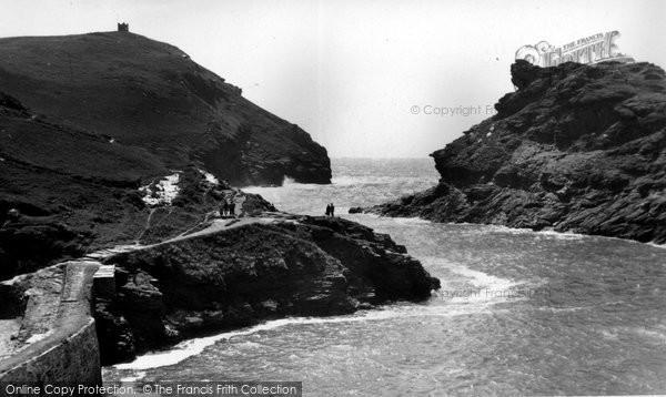 Boscastle, The Harbour Entrance c.1955