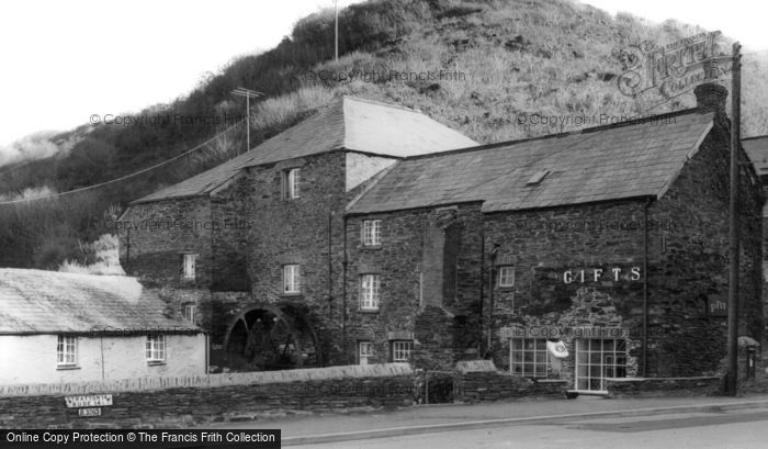 Boscastle,the Old Mill c1960,Cornwall