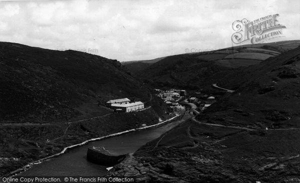 Boscastle, The Village And Harbour c.1955