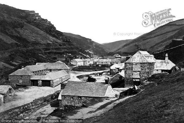 Boscastle, The Village c.1871