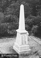 Boscastle, the War Memorial 1923