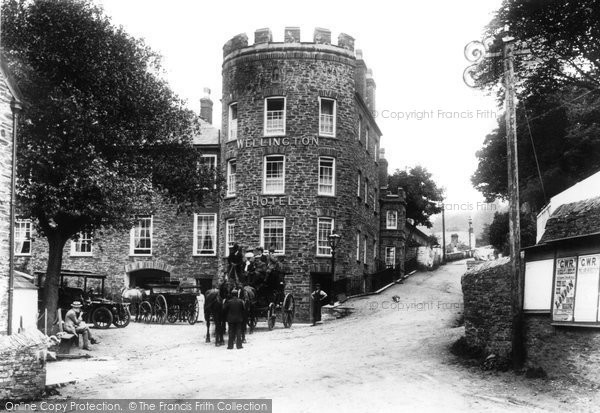 Boscastle, The Wellington Hotel 1906