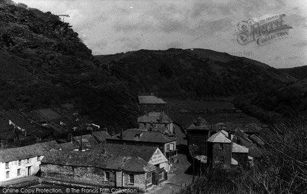 Boscastle, Valley View c.1955
