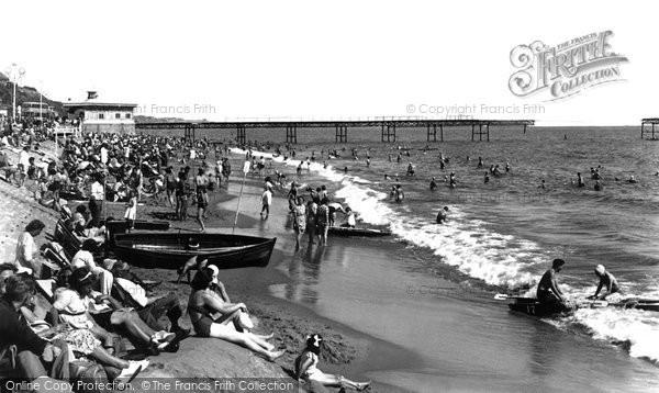 Boscombe, The Beach c.1955