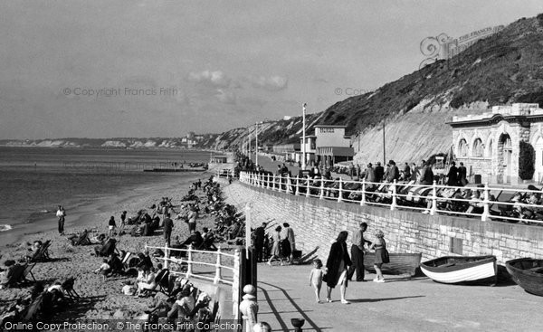 Boscombe, The Sands And Undercliff Drive c.1955