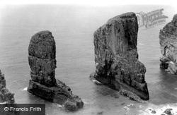 Bosherston, Stack Rocks c.1955