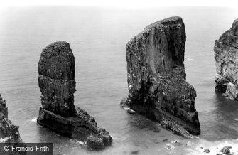 Bosherston, Stack Rocks c1955