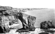 Bosherston, The Green Bridge Of Wales 1893