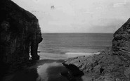 Bossiney, Elephant Rock And Sands 1894