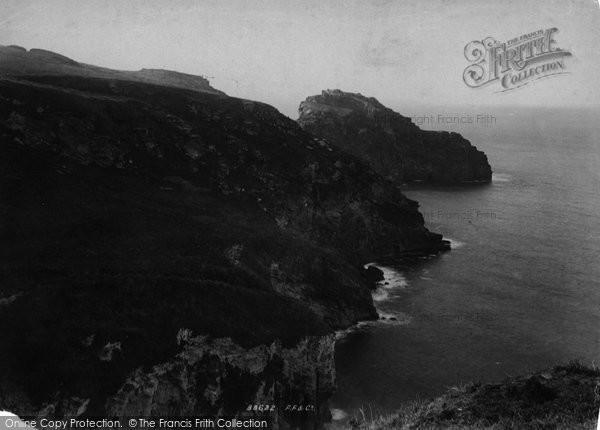 Bossiney, Woollapark Cliffs 1894