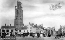 Boston, Market Place And St Botolph's Church 1890