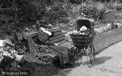 Boston, Mother And Pram, People's Park 1899