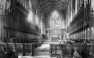 Boston, St Botolph's Church Choir East 1893