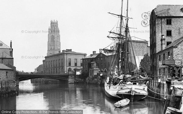 Boston, St Botolph's Church From The River Witham 1890