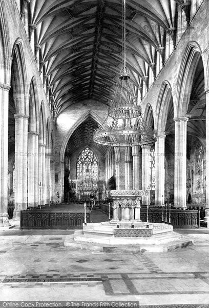 Boston, St Botolph's Church, The Interior 1893