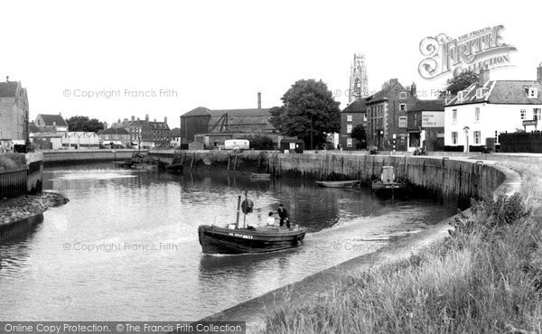 Boston, The River Witham c.1955